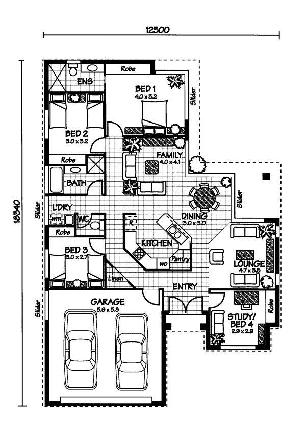 The Hamilton « Australian House Plans