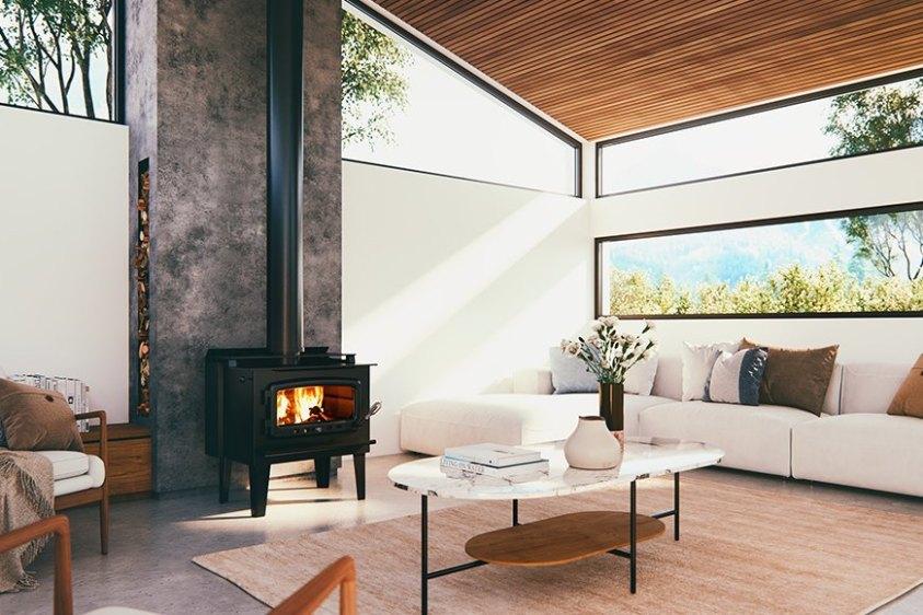 nectre mega woodfired heater wood heater fire place australian hydronics