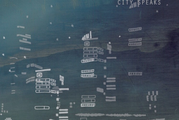 City Speaks cover with sketch of night time city skyline