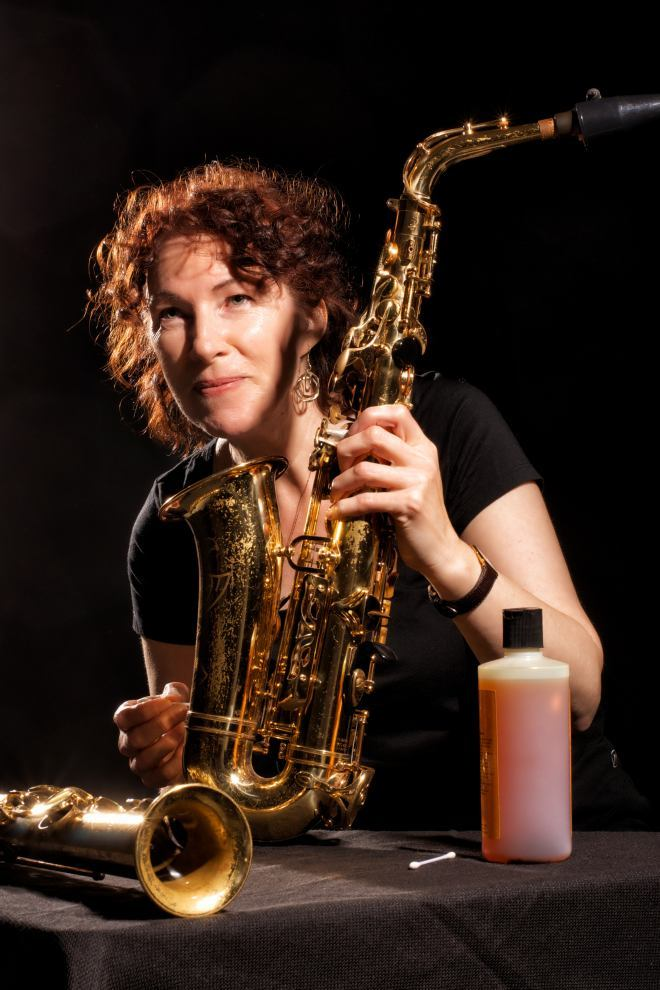 Gai Bryant with saxophone