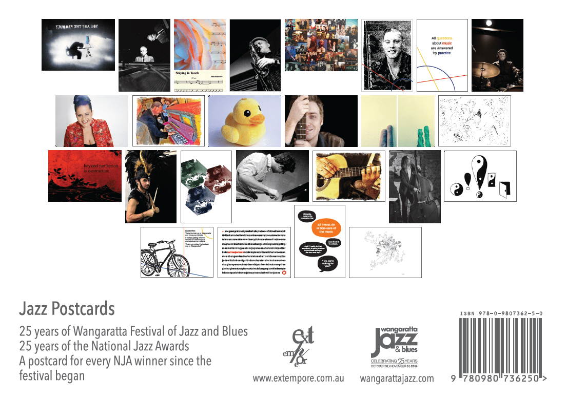 Wangaratta Festival of Jazz & Blues - souvenir postcards