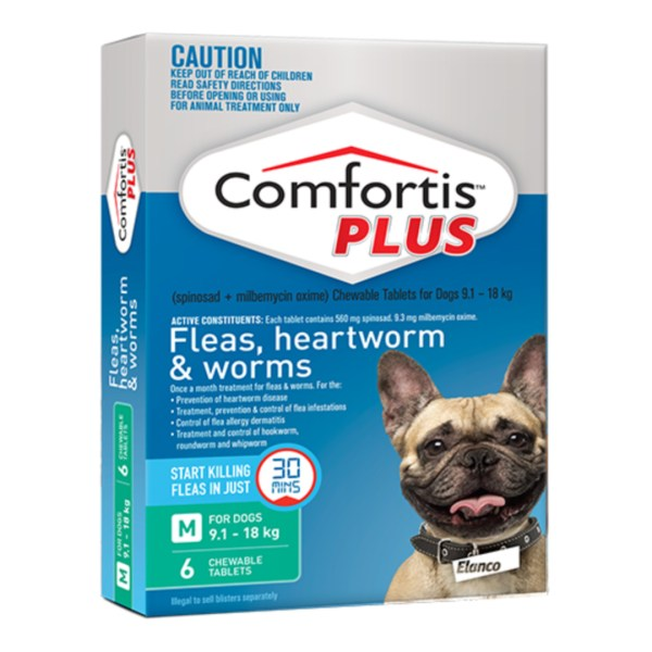 Comfortis PLUS Medium Dog 6 Pack