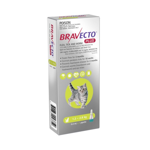 Bravecto Plus Spot-on Small Cat