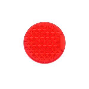 Red Round Mat