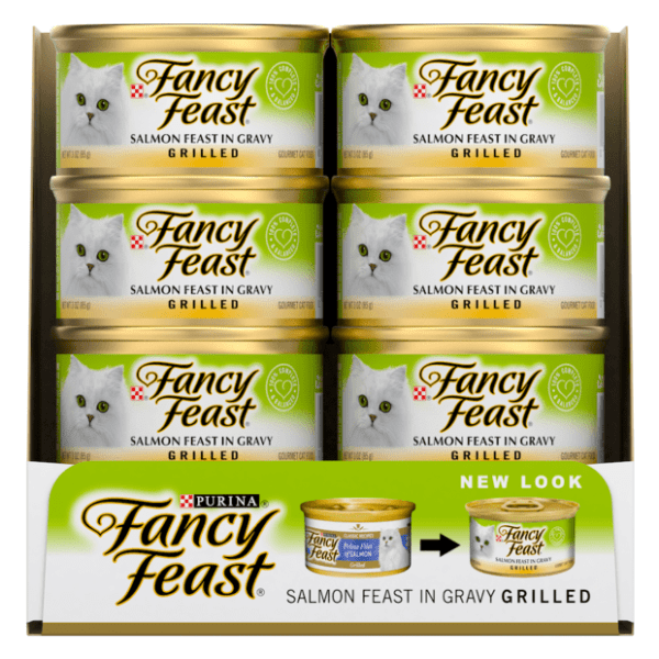 Fancy Feast Salmon Feast in Gravy Grilled