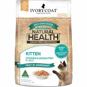 Ivory Coat Wet Kitten Chicken & Fish in Jelly 85g Single