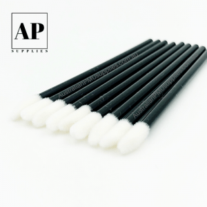Fine Disposable Lip Applicator, Eyebrow and Eyeliner Brush – Black (50 pcs)