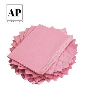 Disposable Dental Bibs – Pink (125 pcs)