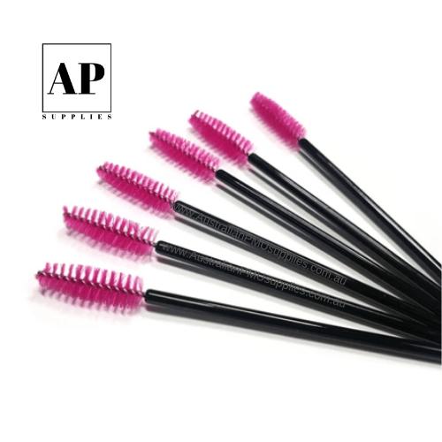 Disposable Mascara Wands – Pink & Black (50 pcs)