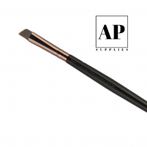 Premium Angled Eyebrow Brush for Tint and Henna (Double-Ended) – Rose Gold