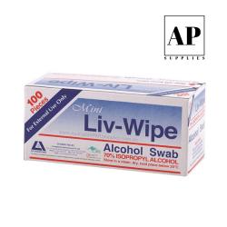 livingstone alcohol swabs blue