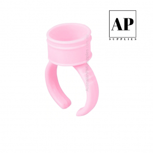 Pigment Cup Rings – Pink (100 pcs) with Size Selection