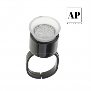 Pigment Cup Rings with Sponge Sterile & Individual – Black (30 pcs)