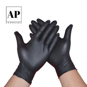 Disposable Nitrile Gloves Black – Latex-free (200 PCS)