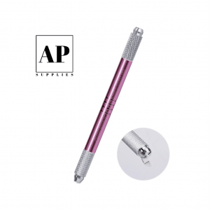 Double Ended Stainless Steel Microblading Hand Tool – Pink