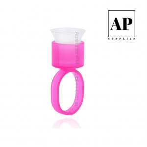 Pigment Cup Rings with Sponge Sterile & Individual – Pink (30 pcs)
