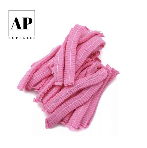 Disposable Hair Cap – Pink (100 pcs)
