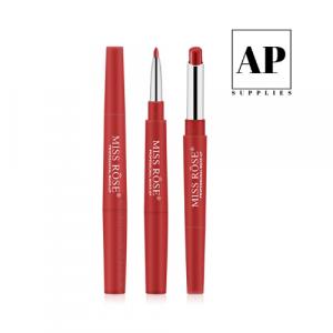 Waterproof Lip Liner Pencil Lipstick Double Headed 2 in 1 – Red