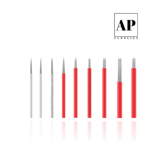 Round Needles for Microblading and Skin – Assorted Sizes (Individually Packaged)