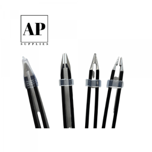 Stainless Steel Eyebrow Tweezers and Scissors Set – Black (5 pcs)