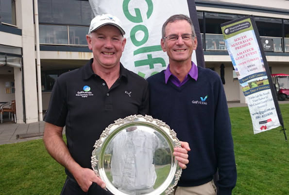 Ian Frost (left) and Gordon Claney - 2015 South Australian Seniors Championship