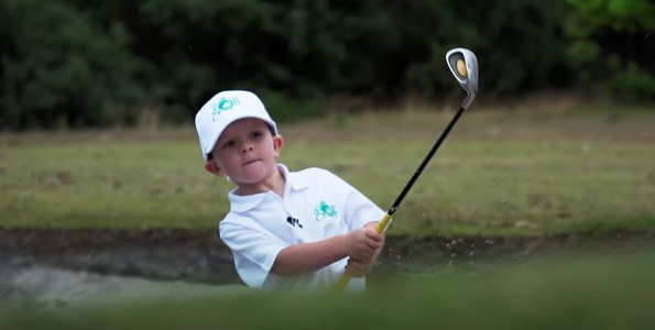 #MyGolf: Jason Day casts an eye over 5 year old golfer Isaac and likes what he sees