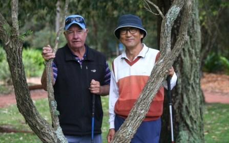 Vets matchplay participants Ian Powell from Port Kembla and John Choi from Ryde Parramatta