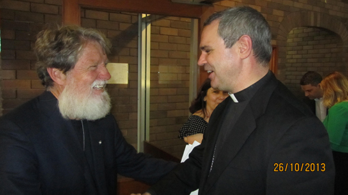 12- Fr Pedro Opeka with Bishop Peter Comensoli