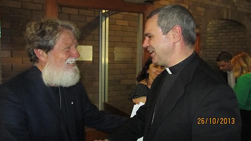 12- Fr Pedro Opeka with Bishop Peter Comensoli