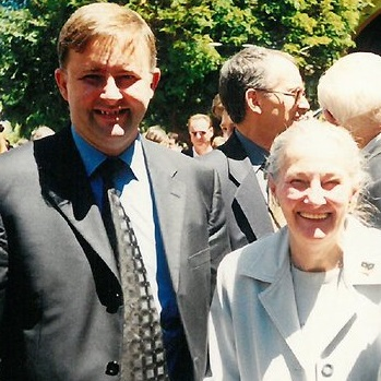 Anthony Albanese and his mum Maryanne