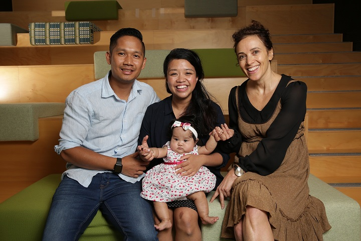 Pictured: Baht Clark, Chahn Kien, baby Mia and Barb Hyman. Photo supplied