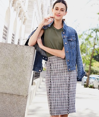 A non-boring pencil skirt