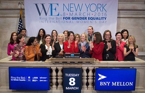 Stock Exchanges around the World to 'Ring the Bell' for Gender Equality on International Women's Day