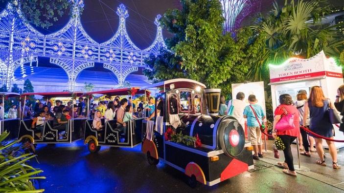 The Christmas Train at Christmas Wonderland Singapore