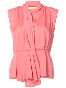TOME cap sleeve shirt with back cutout