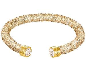 Swarovski Crystaldust Cuff, Golden Brown Gold-plated