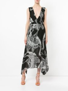 MANNING CARTELL Illustrated Paisley dress