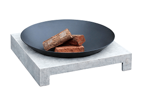 Glow Cement Grey And Black Machu Fire Pit