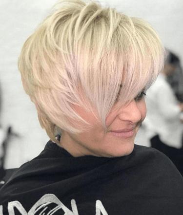 Lash Grazing Fringe hairstyle
