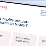 New My Journey Breast Cancer Tool for Australian Women