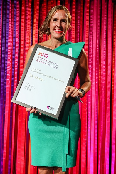 Liz Jones, Telstra Victorian Business Woman of the Year 2019