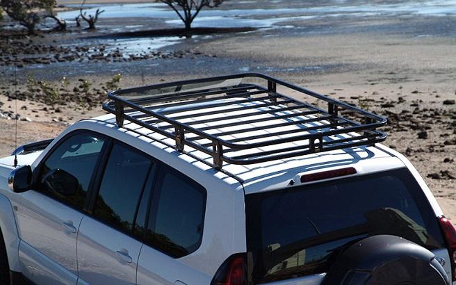 install roof racks to your toyota prado