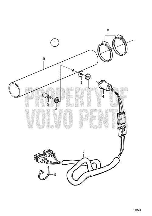 Volvo Penta Exhaust Temperature Alarm Kit for Wet Exhaust