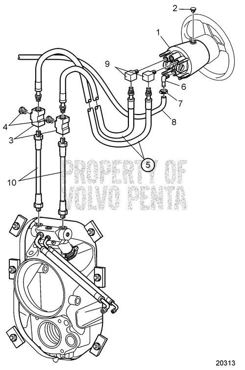 Volvo Penta Steering Cylinders and Hoses for Hydraulic