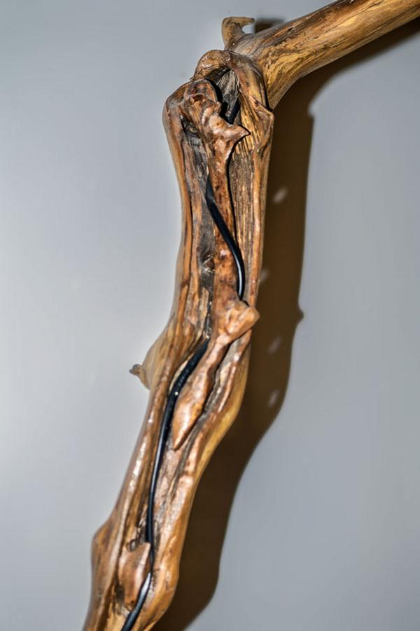 drift wood Floor Lamp Cable channel