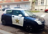 Mini Cooper Decked Out as American Police Cruiser in Austria