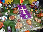Close-Up of Altar at Dia de los Muertos