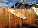 Yard Decorations Reflect the Love for Surfing in Stinson Beach
