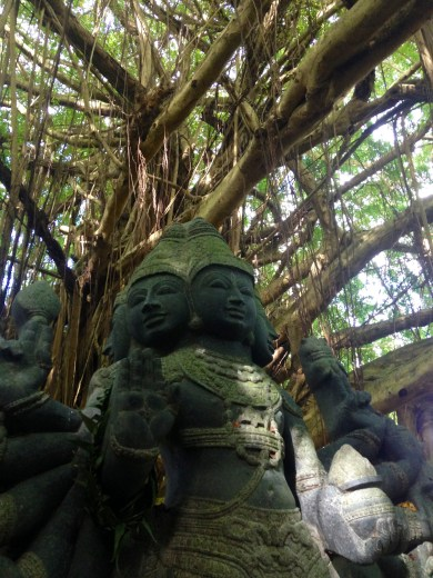 Close-up of the Statue and Tree