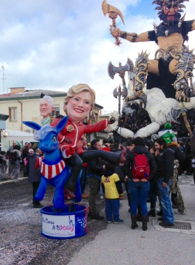 One of the Hillary floats.